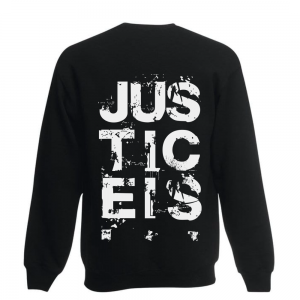 Justice is sweater back